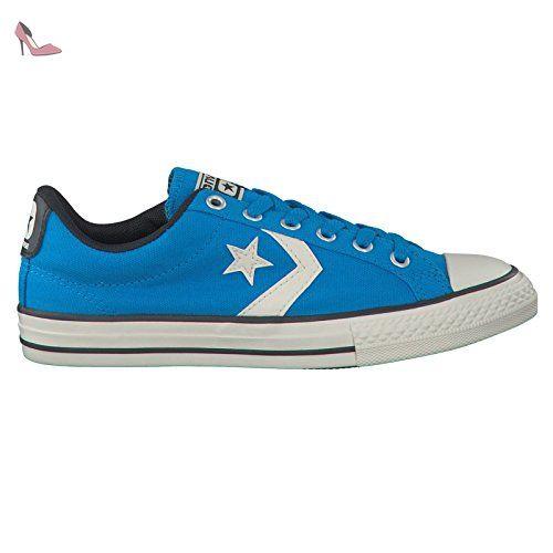 Converse Kids All Star Player EV Ox Casino Blue Textile Trainers 33 EU sVF4Glz