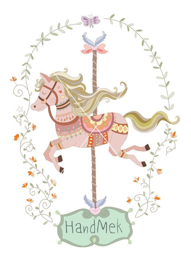 Carousel clipart ,Carousel doodle clip art EPS,PNG,JPEG file -300 dpi January 06, 2015 at 04:38PM