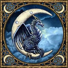Moon Dragon Cross Stitch Pattern from Gryphon's Moon!