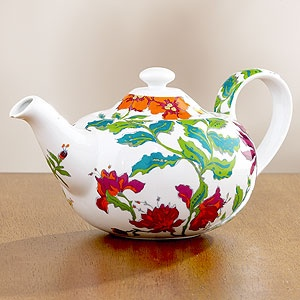 mm. can i make that $200 pendant light out of this $20 teapot?: 20 Teapots, Pretty Teapots, Teapots Collection, Floral Teapots, Nice Colors, Amazing Teapots, Teacups, Bright Flowers, Colorful Floral