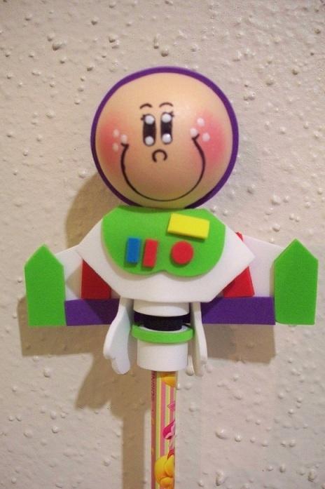 Buzz Lightyear craft foam pencil topper