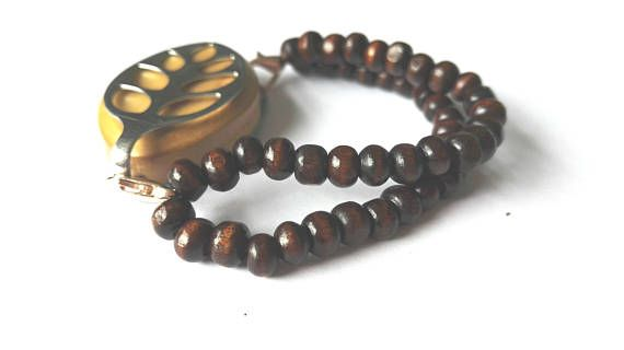 Bellabeat bracelet with dark wood double strand beads in my Etsy shop https://www.etsy.com/uk/listing/535307887/bellabeat-bracelet-double-strand