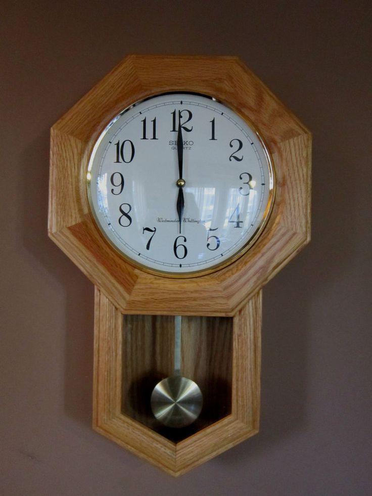 Oak Pendulum Wall Clock Seiko Quartz Westminster