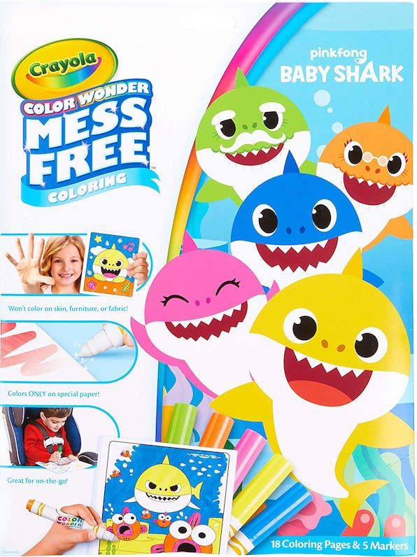 Baby Shark Mess Free Coloring Book Color Wonder Free Coloring Free Baby Stuff