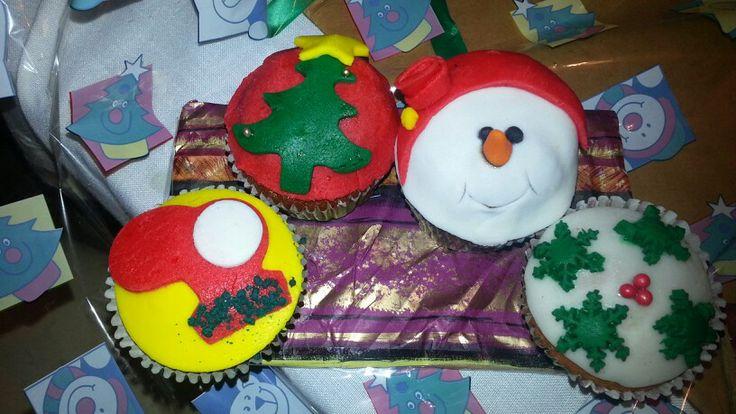 Cupcakes de Navidad.  Hechos por mi