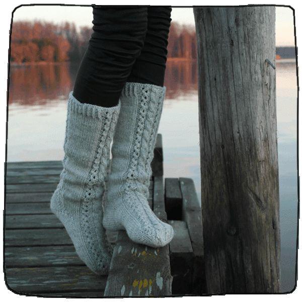 Toe up socks.