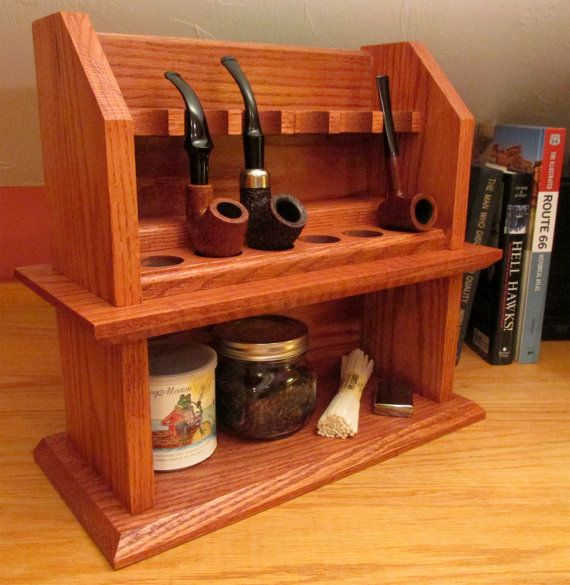 Craftsman Cottage Tobacco Pipe Rack Plan by MissionArtandCraft