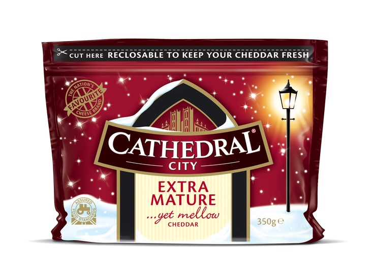 Cathedral City Christmas Cheese : Designed whilst I worked at 1HQ, UK