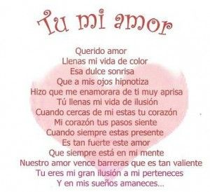Love quote for her, Spanish love poems and In spanish on Pinterest
