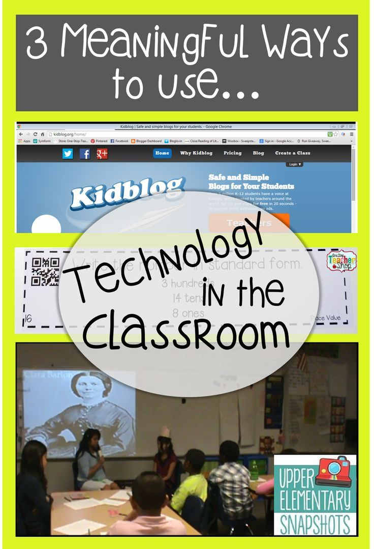 Read about 3 Meaningful Ways to use Technology in the Classroom! FREE Resources included!