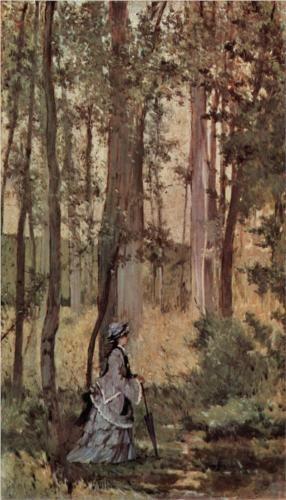 Dame im Wald - Giovanni Fattori 1875