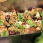 Ugnsrostade kycklingben med grönsaker - Recept - Mitt Kök