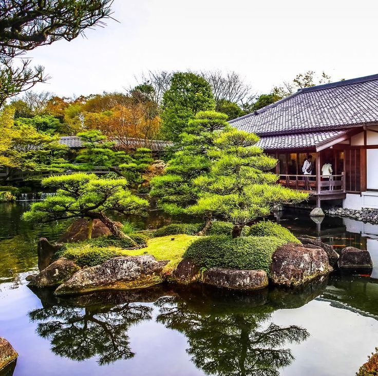3431 best images about japanese garden on pinterest for Traditional japanese garden