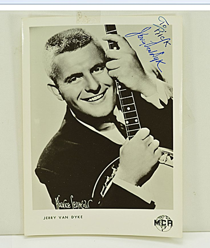 "Jerry Van Dyke Signed Autographed ""to Rick"" 5"" x 7"" Photo."