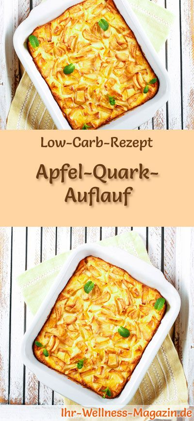 Low Carb Rezept für Apple Quark Auflauf: Kohlenhydratarmes Frühstück – Gesunde …   – Apfel-Rezepte – Alles mit Äpfeln
