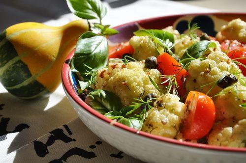 Салат из цветной капусты - Рецепты салатов из цветной капусты - Как