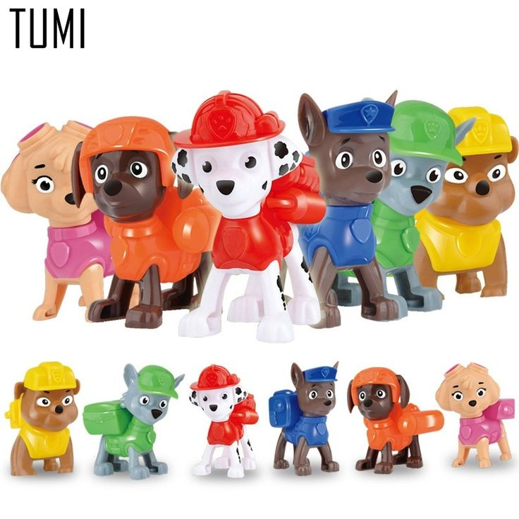 Paw Patrol New Action Figure Toys 6Pcs/Set Patrol Puppy Dog Toy Children Anime Toy Figures Patrolled Dog Model Toys //Price: $9.95 & FREE Shipping //     #earlylearningtoys