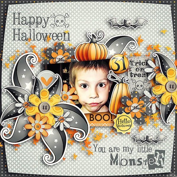Citrouilles magiques by Aline Design October Template by ManueDesigns