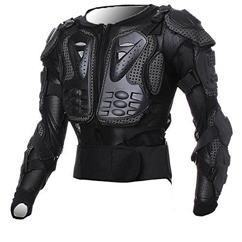 Motorcycle Racing Enduro Body Armor Spine Chest Protective Gear Motocross ATV UTV fashion accessories safe practices Protector Outdoor Sport Black Jacket Size M For Yamaha YFM660 Raptor 2001 2002 2003 2004 2005 Cheap