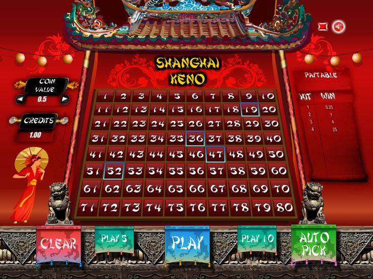 Buy Arcade Game for Online Casino - Shanghai Keno 80 Arcade keno