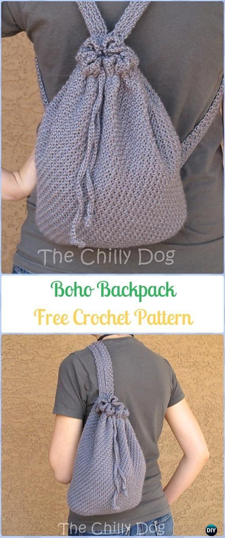 Crochet Boho Backpack Free Pattern Crochet Backpack Free Patterns
