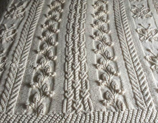 Плед спицами Batterfly от Joan Barnet - Модное вязание