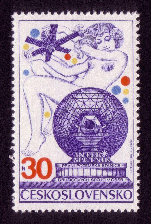 Czechoslovak stamp by Ivan Strnad 1970s