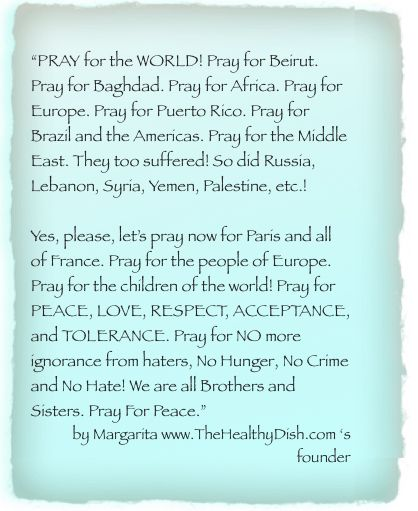 LET'S PRAY FOR WORLD PEACE! FOR PARIS, FOR THE CHILDREN