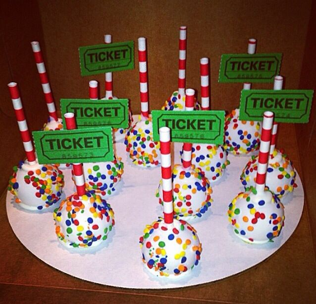 Circus cake pops                                                                                                                                                     More