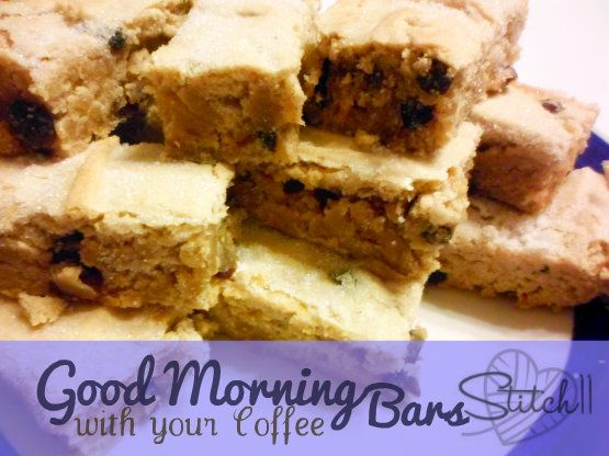 Good Morning With Your Coffee Bars Recipe Try with GF flour blend