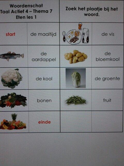 Woordenschat domino's met woorden uit het woordenschatprogramma van Taal Actief voor groep 4. Te downloaden van digischool.