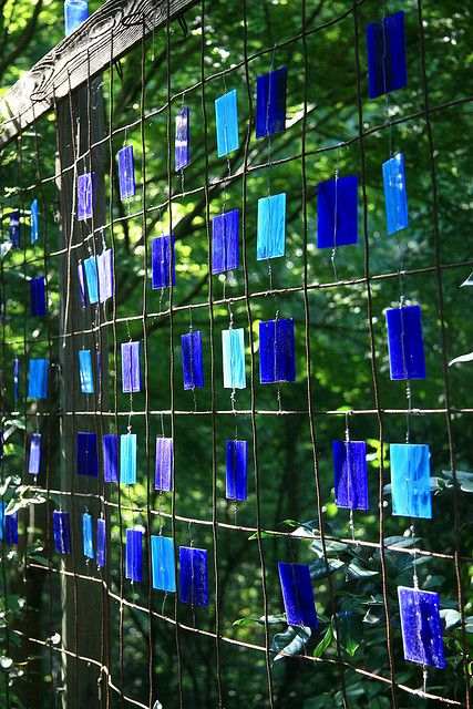 Stained glass & wire screen