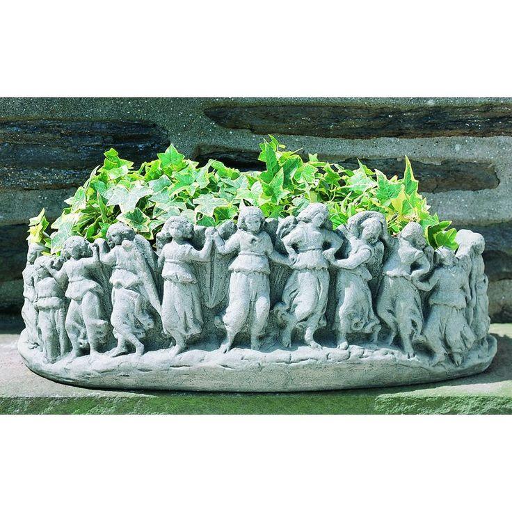 Campania International Dancing Angels Cast Stone Planter   Garden Planters  At Hayneedle
