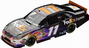 Denny Hamlin Lionel Nascar Collectables FedEx Express Diecast Flashcoat Color by RacingGifts. $65.00. This new Lionel Nascar Collectible is a 1:24 scale limited edition flashcoat color diecast collectible that includes over 100 working total parts. With a diecast body and chassis, this sleek replicas authenticity is evident. Key features also include: hood and trunk open, manufacturer-specific engine detail, accurate header contour and simulated exhaust openings. Each 1:24 sc...