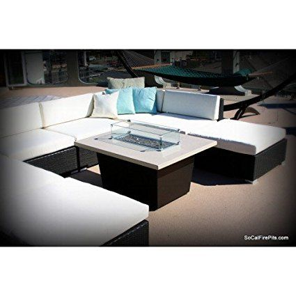 Palisades Rectangular Fire Pit Table