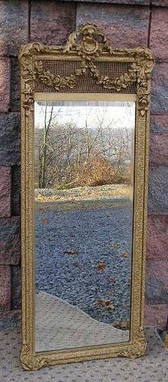 Exquisite Antique Gold Gilt Full Length Mirror by VintiqueStudio