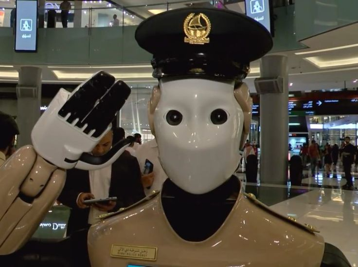 Robot police goes on duty at a Dubai shopping mall