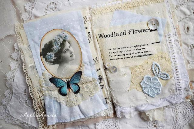 AppleApricot: Fabric and lace book vintage children