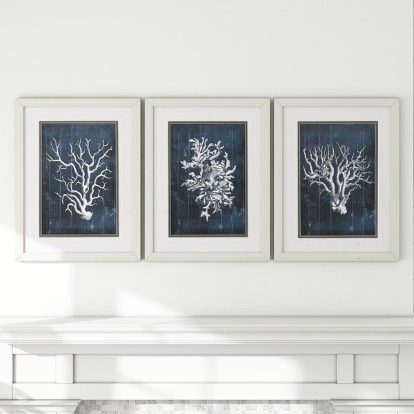 Bring A Splash Of Color To Your Walls With This Delightful Three Piece  Framed Graphic Art Set. Made In The USA, The Rectangular Frames Are Crafted  With ...
