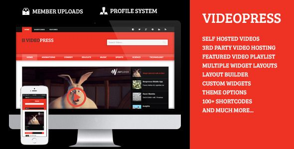 VideoPress - A Self Hosted Video Streaming Theme (Blog / Magazine)