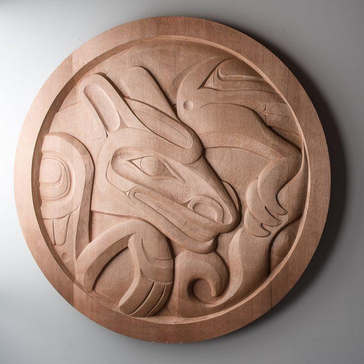 Wolf panel by Tahltan artist Alano Edzerza