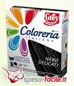€ 3,90  Coloreria Italiana Lana Nero. Vuoi rinnovare il colore di un tuo vecchio maglione di lana? Tingilo di nero con Coloreria Italiana per capi delicati ne salvaguarderai la qualità e lo renderai come nuovo!