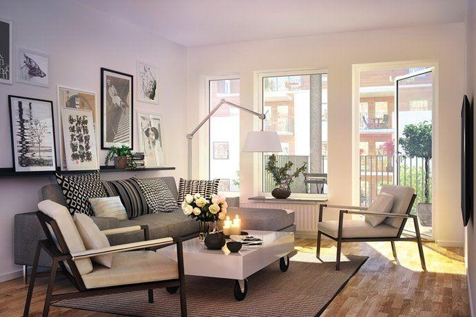 Mattor Karlstad : Bilder vardagsrum soffa vitt balkong matta tavla hemnet