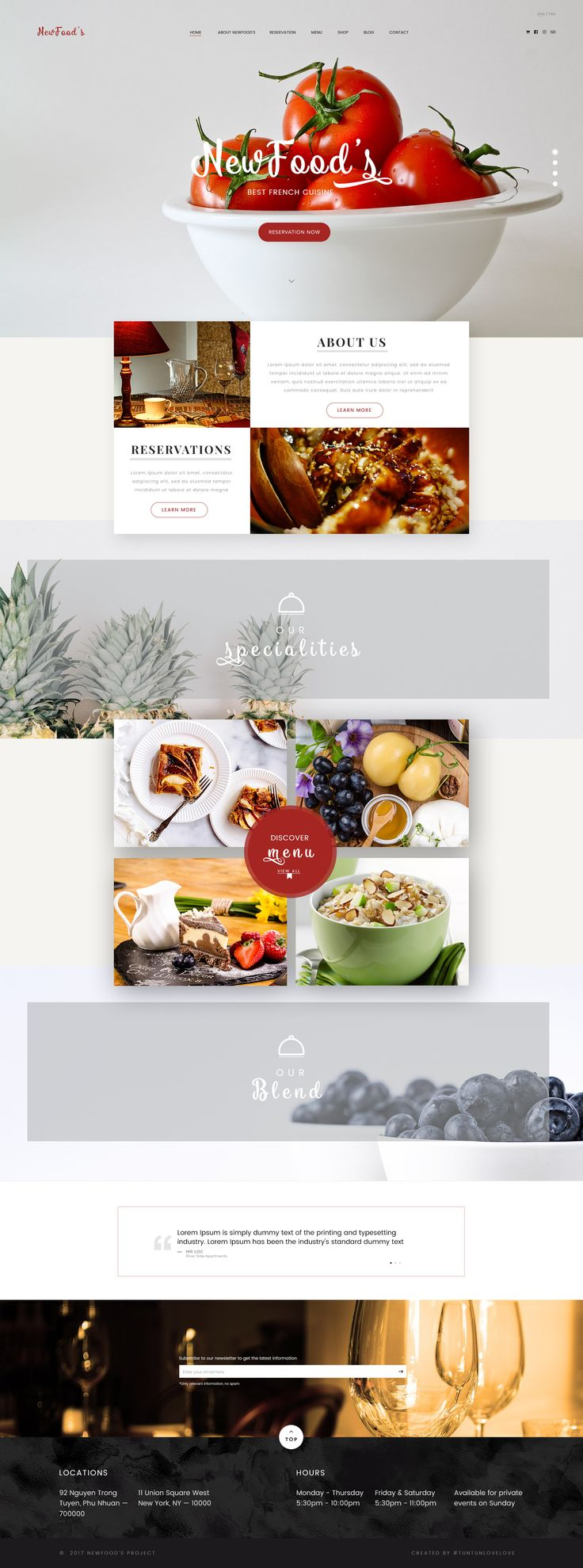 NewFood's   is a daring PSD Template build to help restaurant and other culinary owners to shape an experience that people love and remember. It gives enough freedom to make it your own by tailoring to a specific set of bold needs and preferences.  #cake #clean #creative #customizable, flexible #food #luxury #minimal #modern #onlinestore #professional #responsive #restaurant #service #website #interface