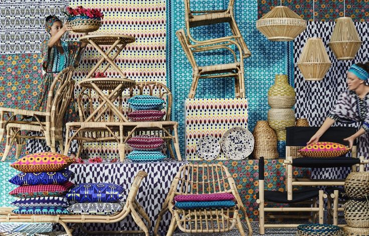 Esta el la recién estrenada colección IKEA Jassa. Colores y formas que recuerdan las tradiciones asiáticas.  @IKEASpain #decoración #diseño #colore #ikea #espaciosinfinitos #ratan #algodon #bambu