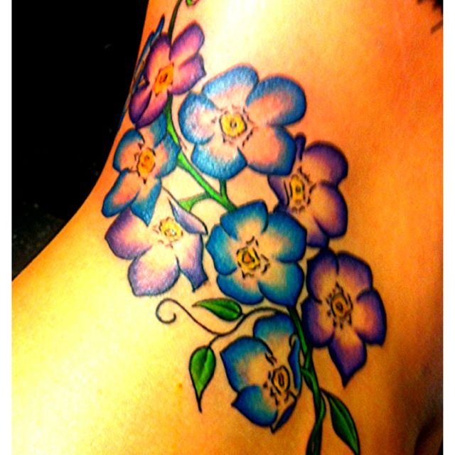 Gallery Forget Me Nots Watercolor Tattoo