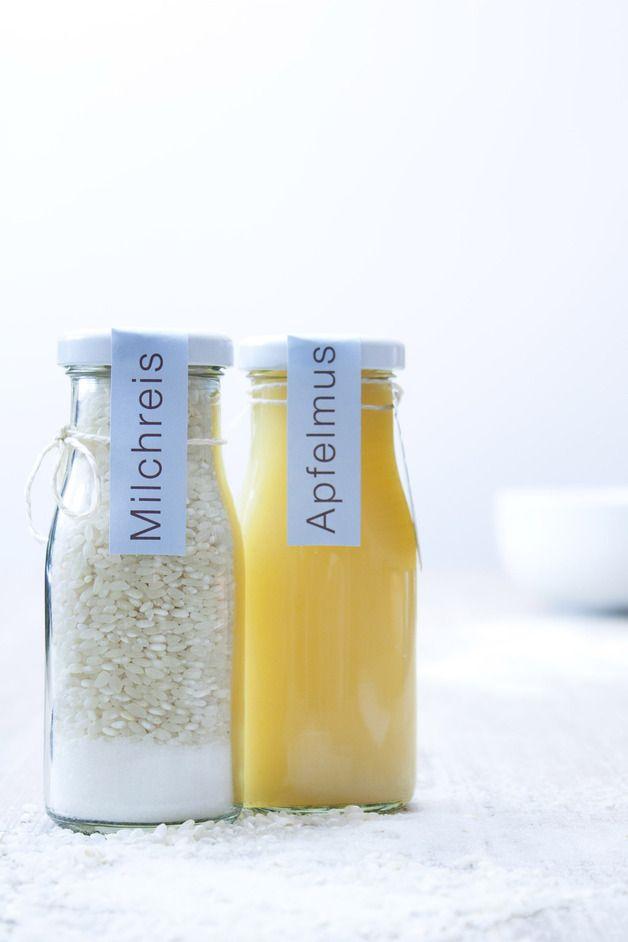 Milchreis und Apfelmus als Geschenkset Äpfel Reis
