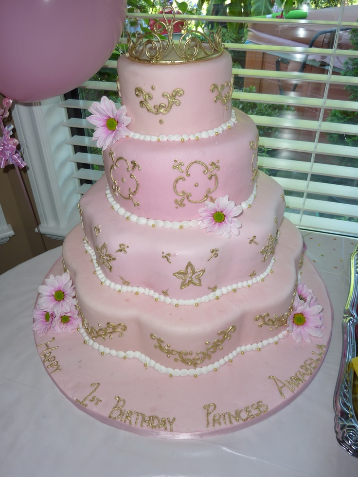 Here is the perfect 1st birthday, built for a princess