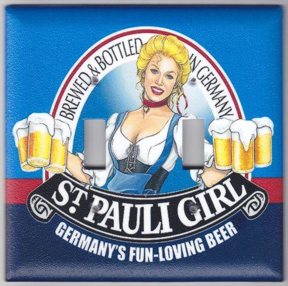 St. Pauli Girl German Beer Switchplate Cover  by SpottedDogStudios, $9.00
