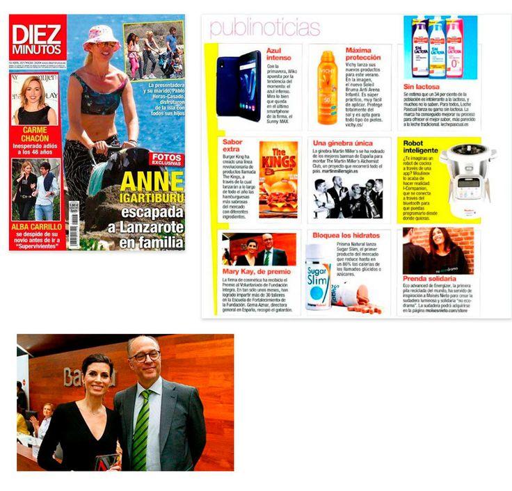 Revista Diez Minutos - Abril 2017    Mary kay España recibe el Premio al Voluntariado de Fundación Integra.